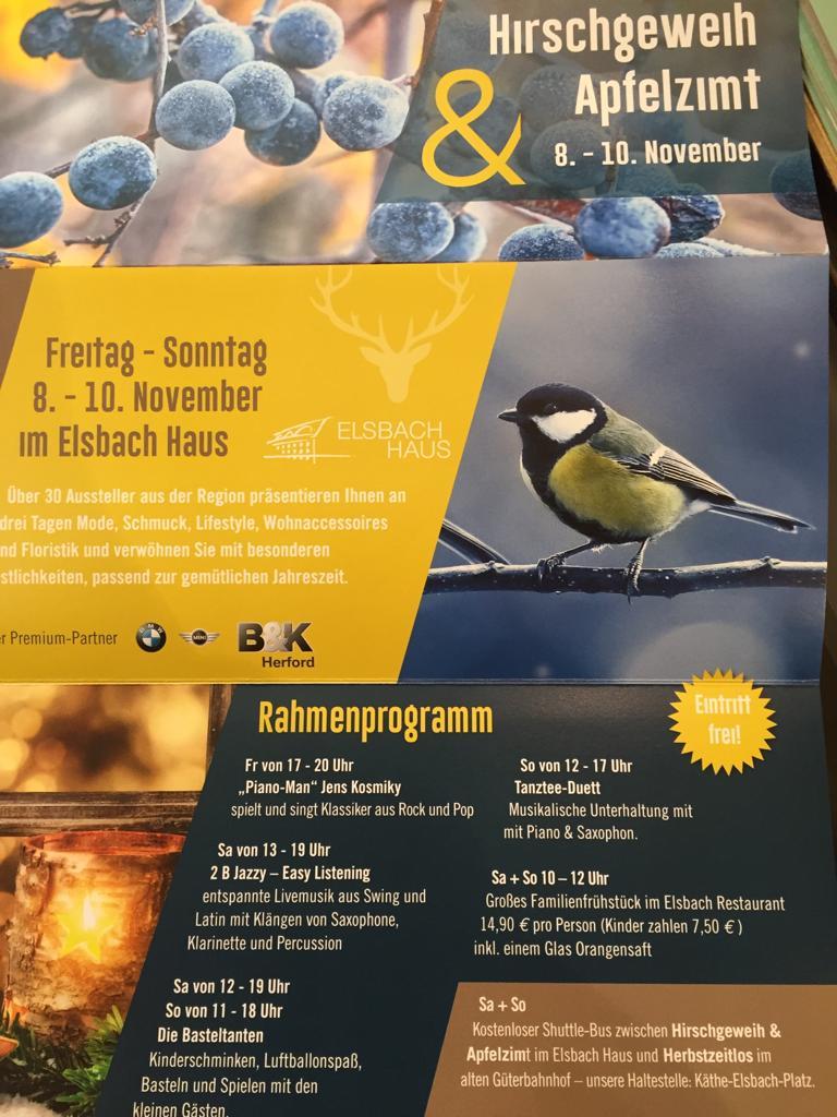 Hirschgeweih & Apfelzimt 2019 in Herford - Programm